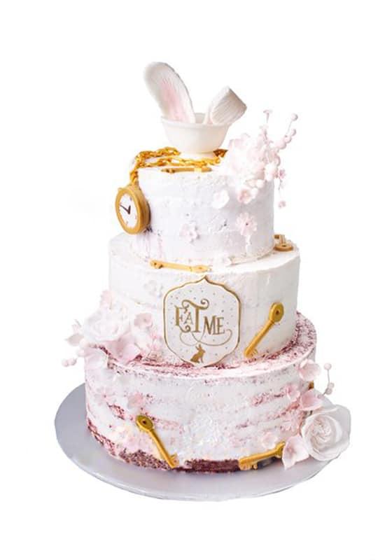 Свадебный торт с Часами и ключиками