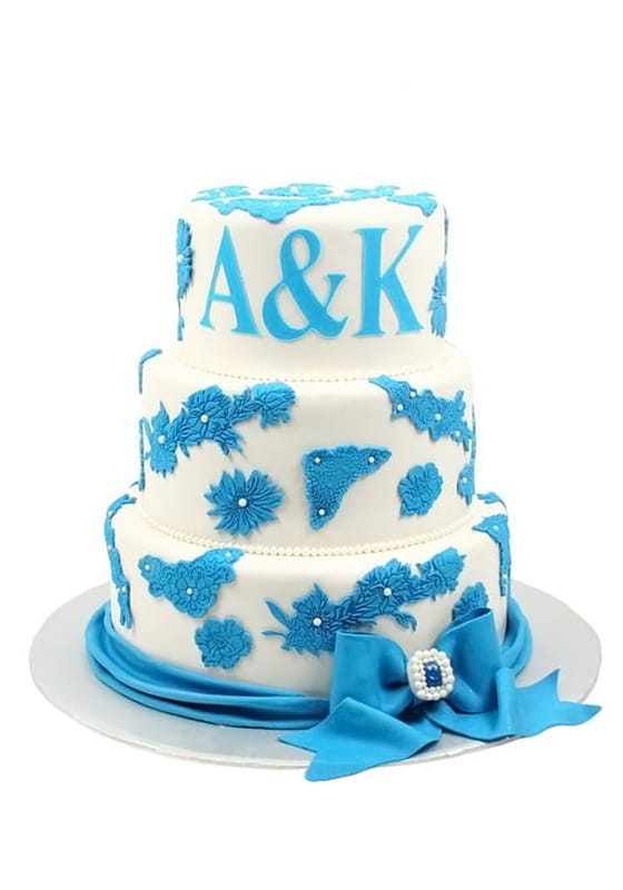 Свадебный торт с Голубой лентой