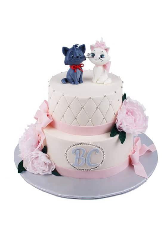 Свадебный торт с Котятами