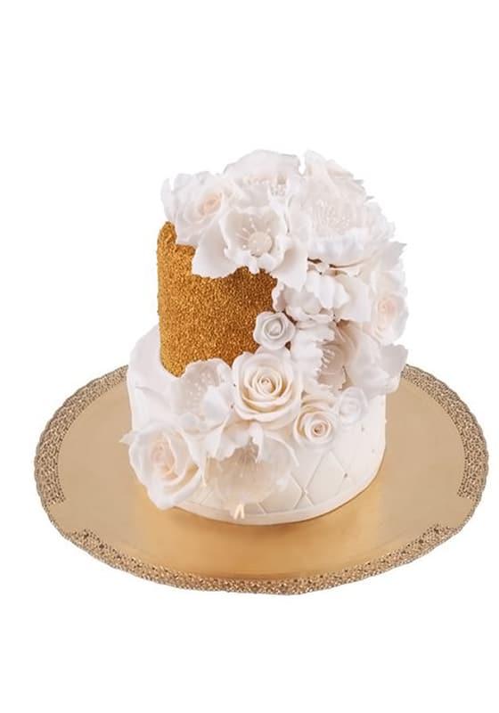 Свадебный торт с Золотой крошкой