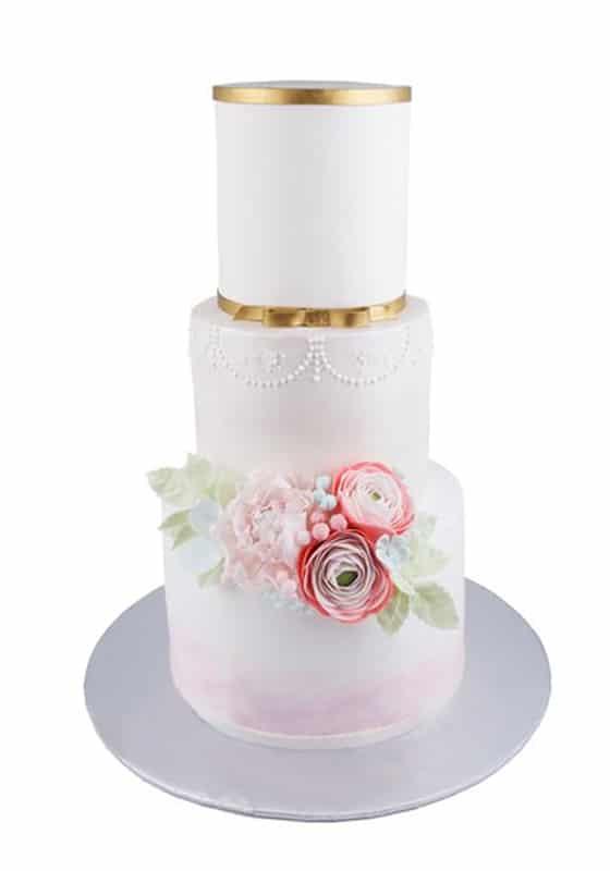 Свадебный торт с Золотой лентой