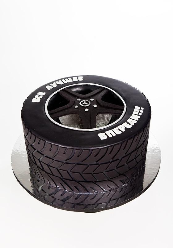 Торт автомобильное колесо