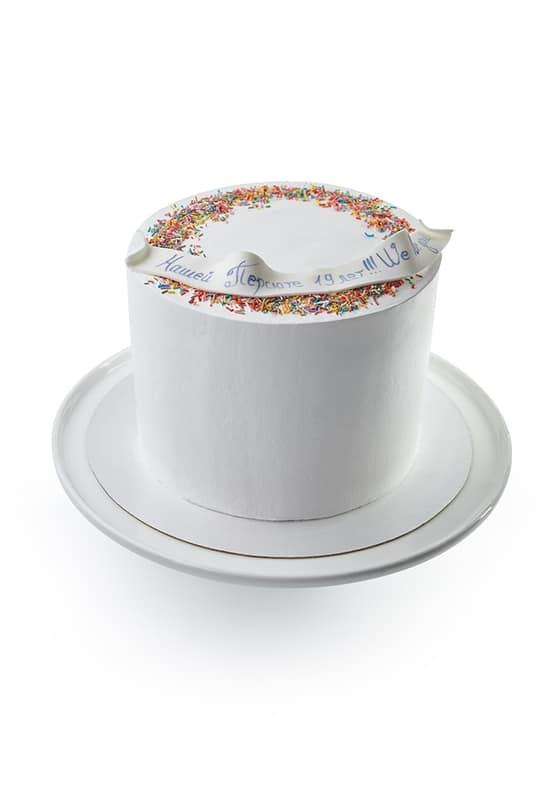 Торт Белый с искоркой