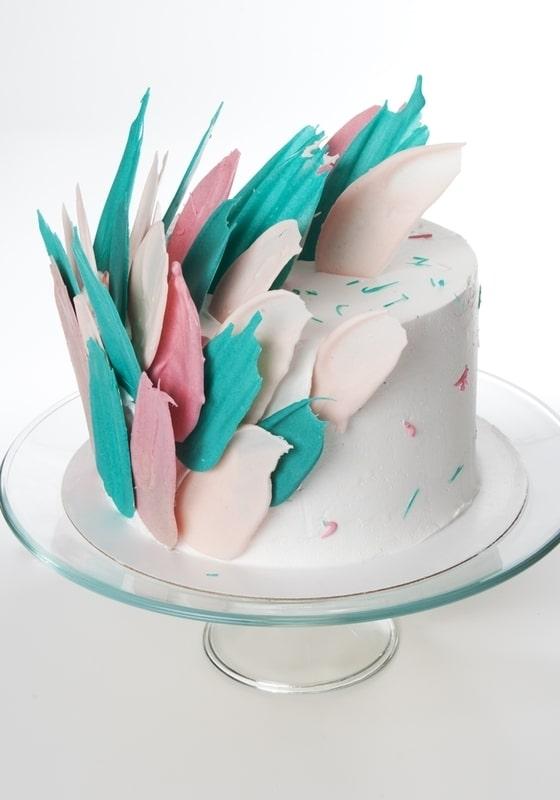 Торт с Разноцветными мазками