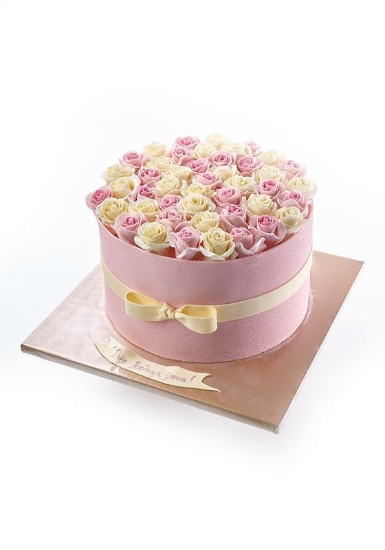 Торт с Розами в коробке