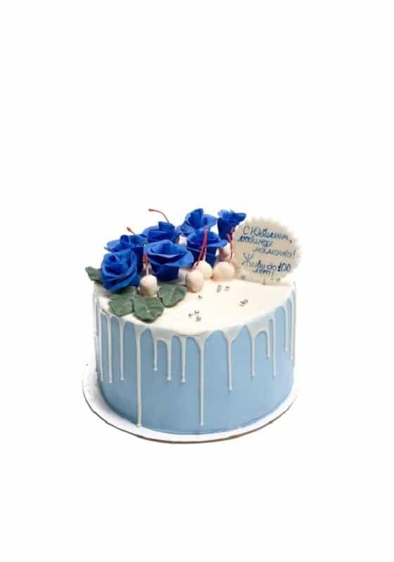 Торт с Синими розами