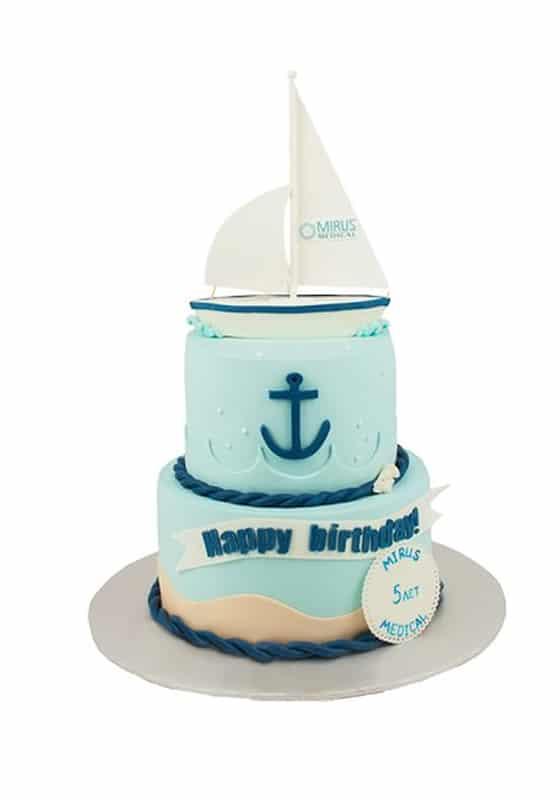 Торт Мальчику в морском стиле