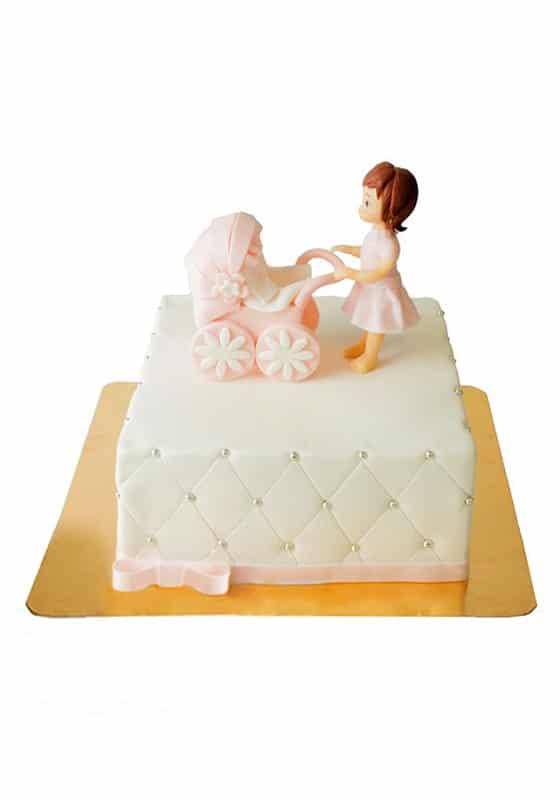 Торт Малышка с коляской