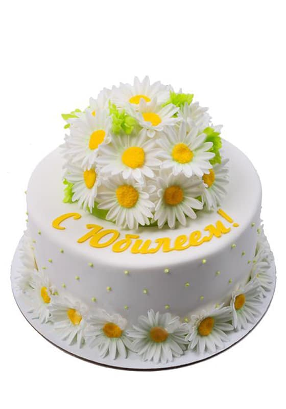 Торт на юбилей с Ромашками