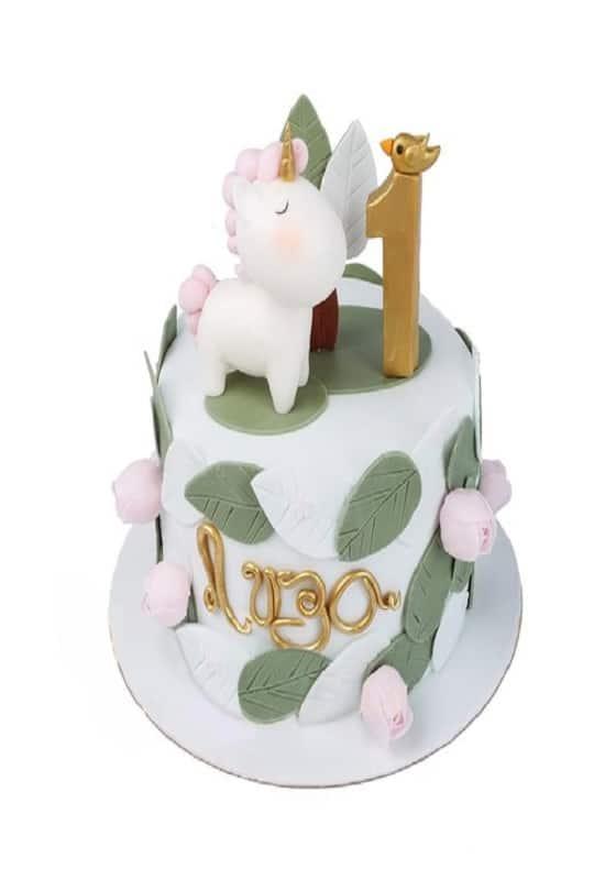 Торт с Единорожкой и цифрой